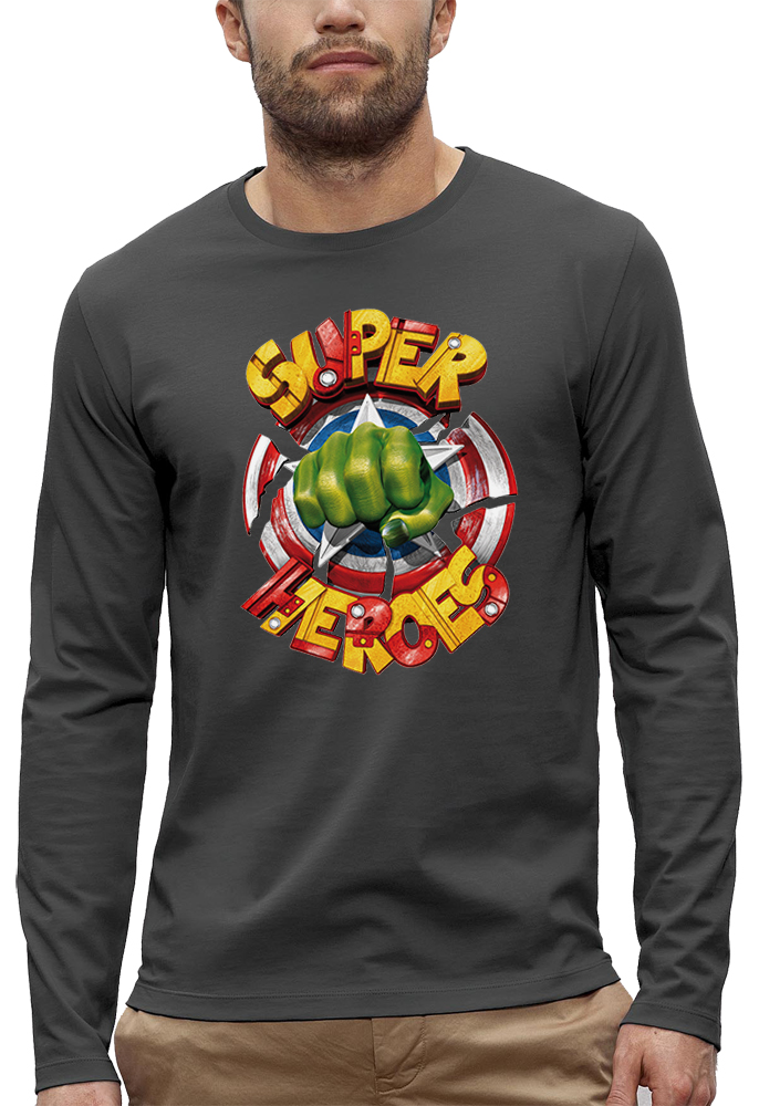 t-shirt manches longues super heroes