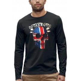 T-shirt manches longues 3D TÊTE DE MORT ROCK N ROLL UK