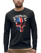 T-shirt manches longues TÊTE DE MORT ROCK N ROLL UK