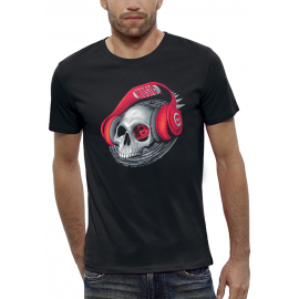 T-shirt 3D CRANE CASQUE DJ BEATS