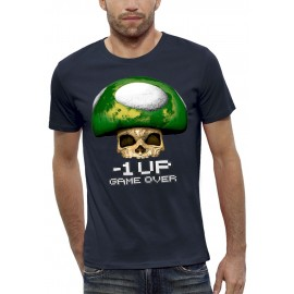 T-shirt 3D CRANE CHAMPIGNON GAME OVER