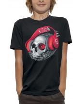 T-shirt CRANE CASQUE DJ ROUGE