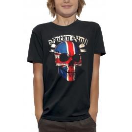 T-shirt 3D TÊTE DE MORT ROCK N ROLL UK