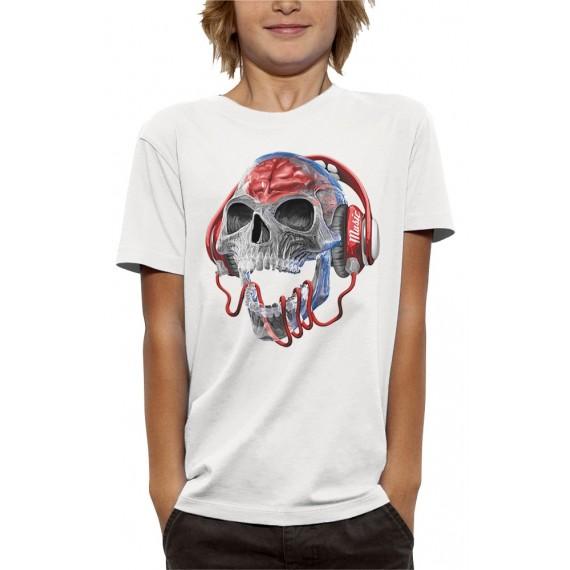 T-shirt 3D TÊTE DE MORT TRANSLUCIDE