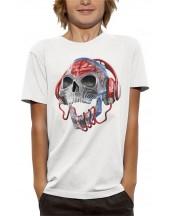 T-shirt TÊTE DE MORT TRANSLUCIDE