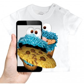 T-shirt Bébé 3D COOKIE MONSTER