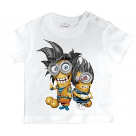 T-shirt Bébé 3D LES MINIONS DRAGON BALL Z