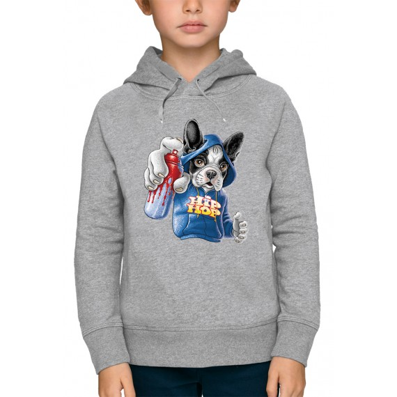 Sweat à capuche 3D BOULEDOGUE HIP HOP