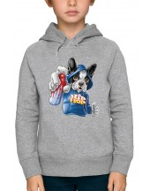 Sweat à capuche BOULEDOGUE HIP HOP