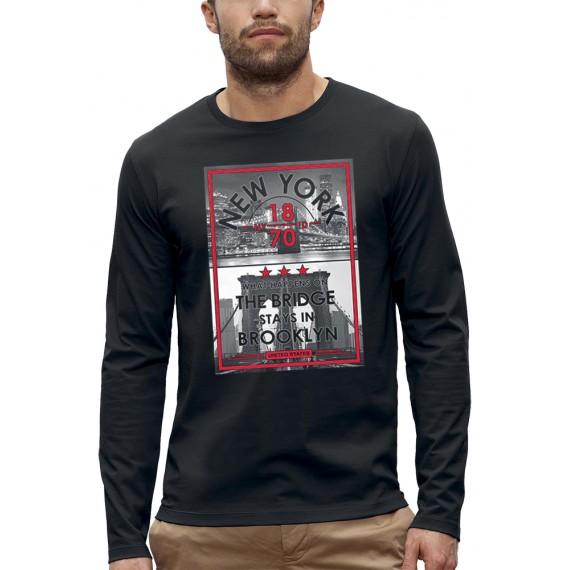 T-shirt ML THE BRIDGE STAYS IN BROOKLYN