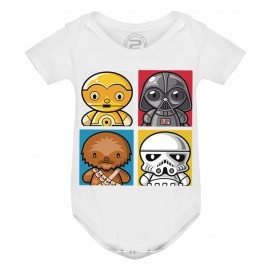 Body Bébé 4 MINI STAR WARS