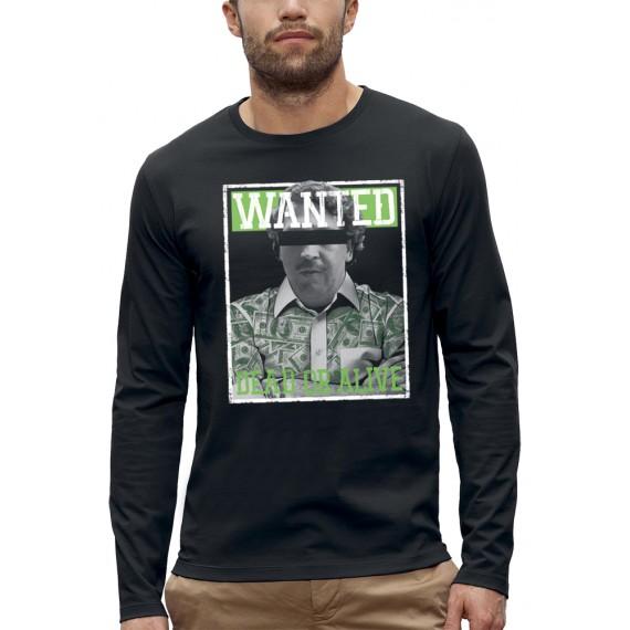 T-shirt ML WANTED PABLO ESCOBAR