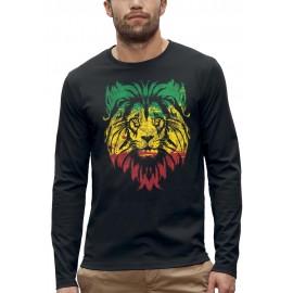 T-shirt ML LION VERT JAUNE ROUGE