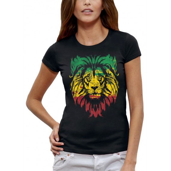 T-shirt LION VERT JAUNE ROUGE