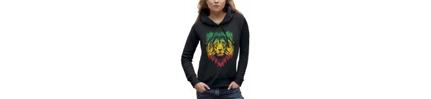 Sweat LION VERT JAUNE ROUGE