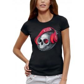 T-shirt TETE DE MORT CASQUE DJ BEATS