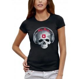 T-shirt TETE DE MORT PLAY MUSIC