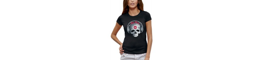 T-shirt TETE DE MORT PLAY MUSIC