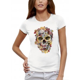 T-shirt CRÂNE FLEURS