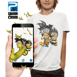 T-shirt 3D LES MINIONS DRAGON BALL Z