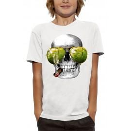 T-shirt 3D CRÂNE CIGARE LAS VEGAS
