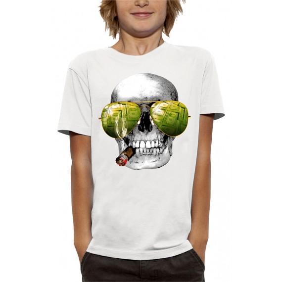 T-shirt 3D TÊTE DE MORT CASINO
