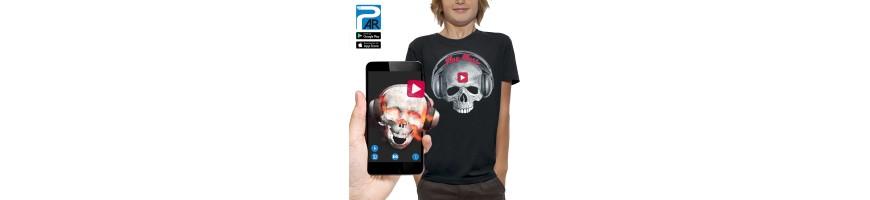 T-shirt 3D CRANE CASQUE DJ PLAY MUSIC