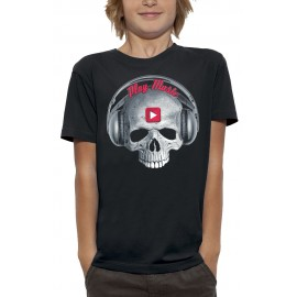 T-shirt 3D CRANE CASQUE DJ PLAY MUSIC