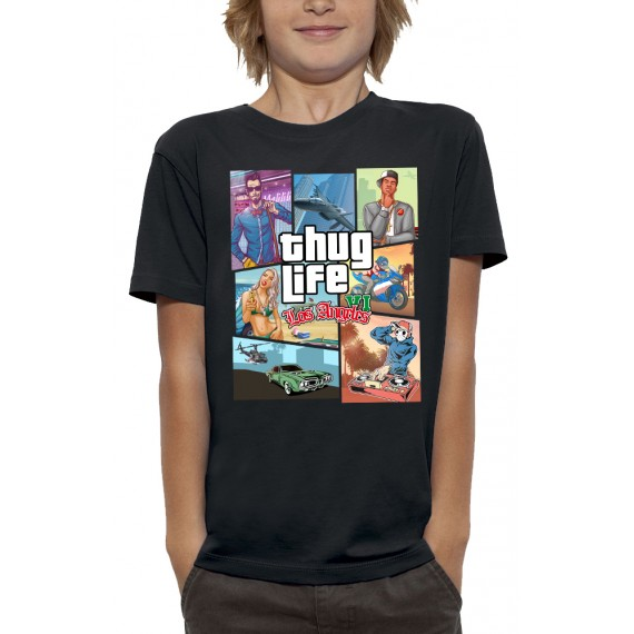 T-shirt 3D THUG LIFE LOS ANGELES