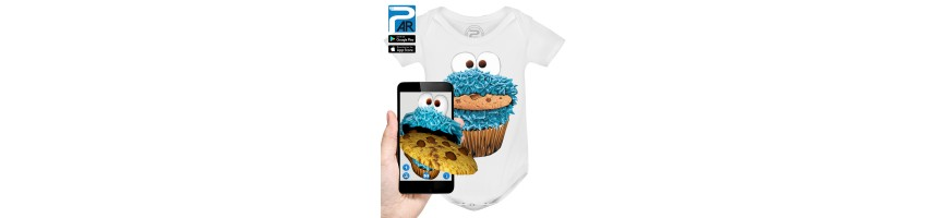 Body Bébé 3D COOKIE MONSTER