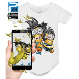 Body Bébé 3D LES MINIONS DRAGON BALL Z