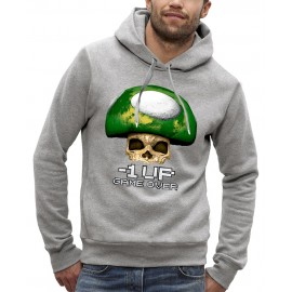 Sweat à capuche 3D CHAMPIGNON TOAD ONE UP