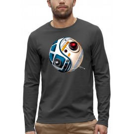 T-shirt ML 3D DROIDES D2R2 BB8