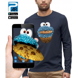 T-shirt ML 3D COOKIE MONSTER