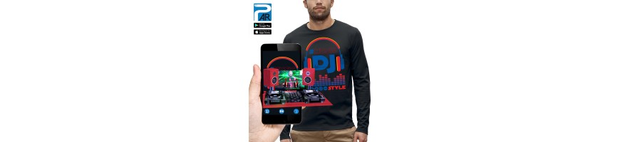 T-shirt ML 3D CASQUE DJ STYLE