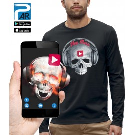 T-shirt ML 3D CRANE CASQUE DJ PLAY MUSIC