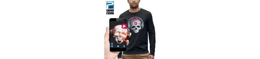 T-shirt ML 3D CRANE CASQUE DJ PLAY MUSIC