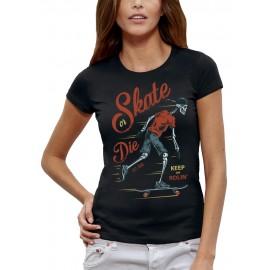 T-shirt SQUELETTE SKATER