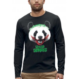 T-shirt ML PANDA WHY SO SERIOUS