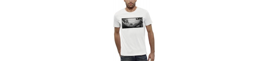 T-shirt CHIRAC THUG LIFE AVION