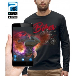 T-shirt ML 3D BIKER CUSTOM