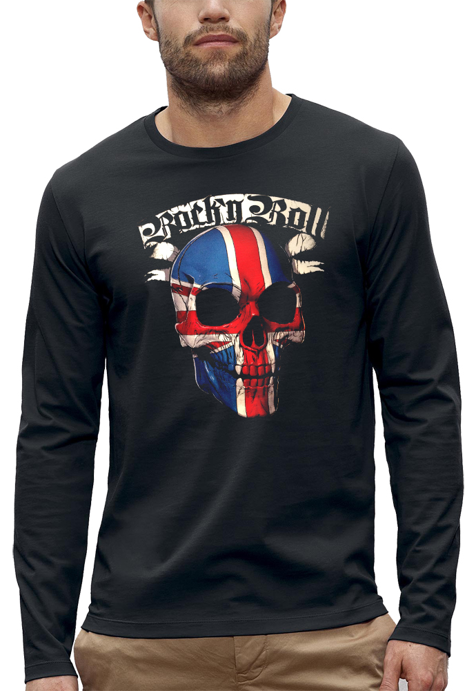 t-shirt manches longues rock n roll uk