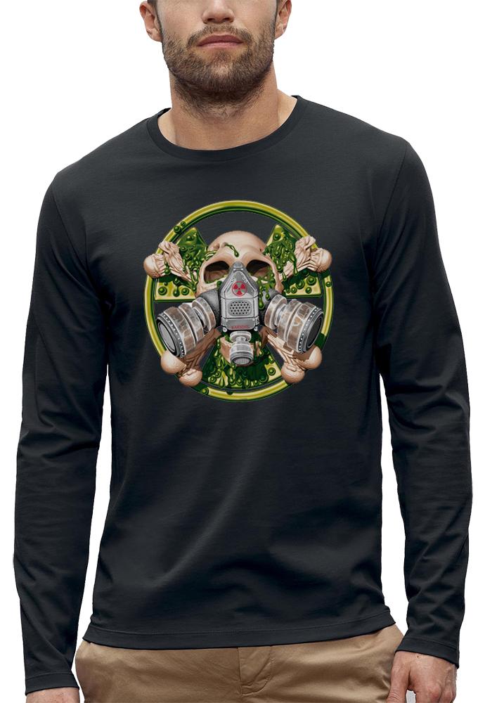 t-shirt manches longues tete de mort nucleaire